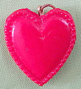 Vintage Plastic Hearts Charms Set Of 2