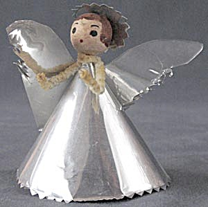 Vintage Foil Angel & Choir Boy Christmas Ornaments (Image1)