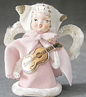 Vintage Angel Playing Guitar Christmas Decoration (Image1)
