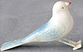 Vintage Plastic Bird Christmas Ornaments Pair (Image1)
