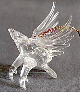 American Eagle Glass Christmas Ornament (Image1)