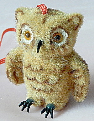 Wagner Kunstlerschutz Flocked Owl Ornament