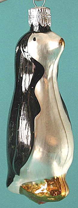 Blown Glass Penguin Christmas Ornament (Image1)