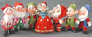 Vintage Snow White & Six Dwarfs Christmas Ornaments (Image1)