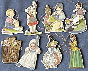 Cardboard Nursery Rhyme Christmas Ornaments Set of 8 (Image1)