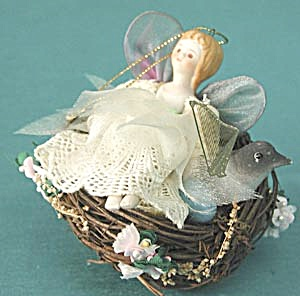Fairy in Bird's Nest Christmas Ornament (Image1)