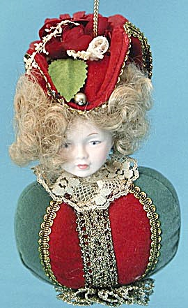 Vintage Woman Bust Christmas Ornament (Image1)