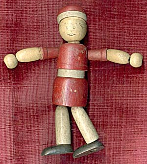 Vintage Little Orphan Annie Wooden Jointed Doll