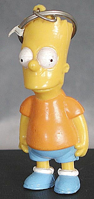 2 Bart Simpson Key Chains (Image1)