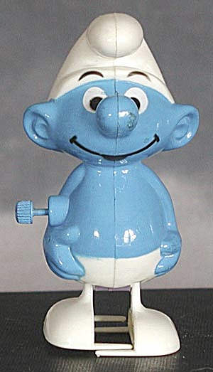Vintage Smurf Plastic Wind Up (Image1)