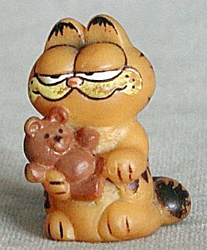 Vintage Garfield Holding A Teddy Bear