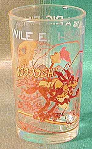 Vintage Roadrunner Warner Brothers Drinking Glass