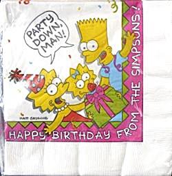 Vintage Simpsons Napkins (Image1)