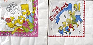 Vintage Simpsons Napkins Set of 2 Packages (Image1)