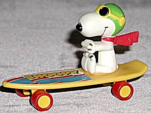 Vintage Red Baron On Skateboard Toy