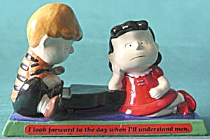 Vintage Peanuts Schroeder & Lucy At Piano Figurine