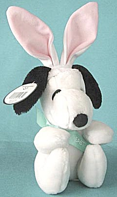 Vintage Plush Snoopy With Bunny Ears