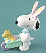 Snoopy With Woodstock In Wheelbarrow