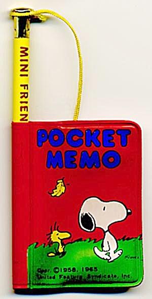 Vintage Snoopy Pocket Memo (Image1)