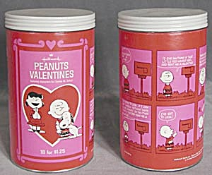 Hallmark Peanuts Valentines In Canister Set Of 2