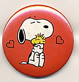 Vintage Peanuts Pin Snoopy and Woodstock (Image1)