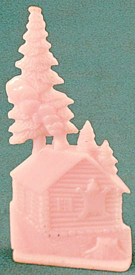 Cracker Jack Toy Prize: Log Cabin By Pines