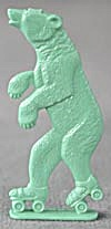 Cracker Jack Toy Prize: Bear on Roller Skates (Image1)