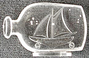 Cracker Jack Toy Prize: Sailboat in Bottle (Image1)