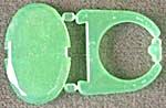 Cracker Jack Toy Prize:Green Snap Together Jewel Ring (Image1)