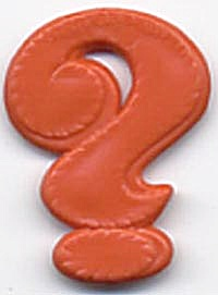 Cracker Jack Toy Prize: Question Mark (Image1)
