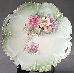 Vintage Hand Painted Poppy Serving Plate