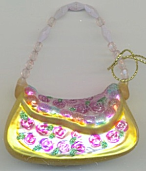 Blown Glass Purse Christmas Ornament (Image1)
