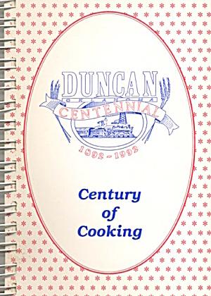 Duncan Oklahoma Centennial  1892-1992 Cookbook (Image1)