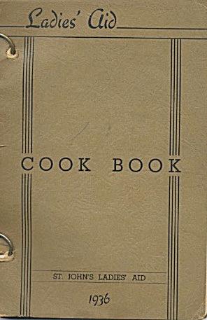 Ladies Aid Cookbook 1936 St John's (Image1)