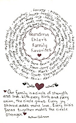 Grandma Ehler's Family Favorites (Image1)