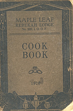 The rebekah Cook Book of Friendship lodge
