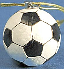 Leather Soccer Ball Christmas Ornament (Image1)