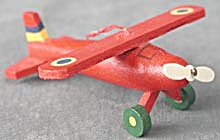 Wooden Airplane Christmas Ornament