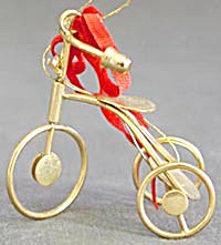 Brass Tricycle Christmas Ornament (Image1)