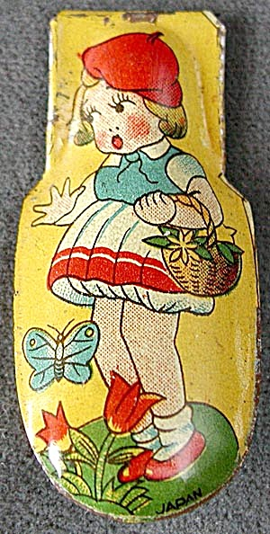 Vintage Girl and Butterfly Clicker  (Image1)