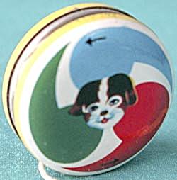 Vintage Tin Yo Yo and Rattle  (Image1)