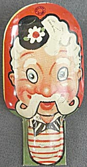 Vintage Tin Lithograph Man Clicker