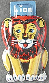 Vintage Tin Lithograph Lion Clicker