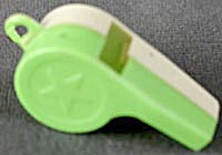 Vintage Plastic Whistles Set of 3 (Image1)