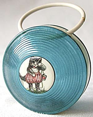 Vintage Celluloid Cat Baby Rattle