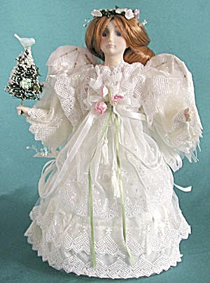 Angel Tree Top With Feather Wings