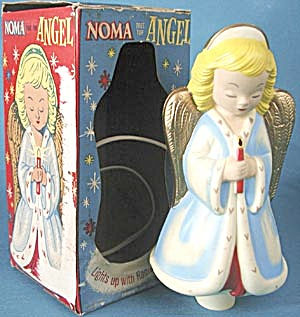 Vintage Christmas Noma Light Up Tree Top Angel (Image1)