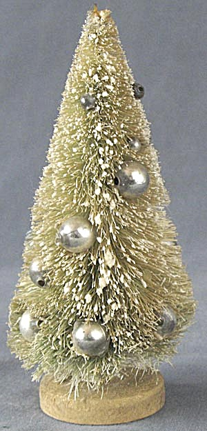 Vintage Bottle Brush Christmas Tree