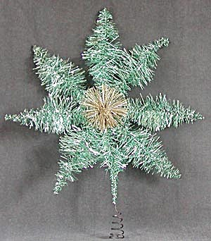 Vintage German Wire & Tinsel Star Tree Topper