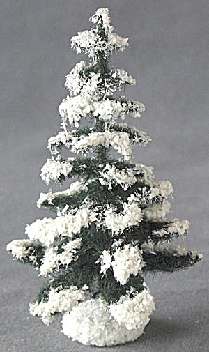 Vintage Christmas Tree With Snow